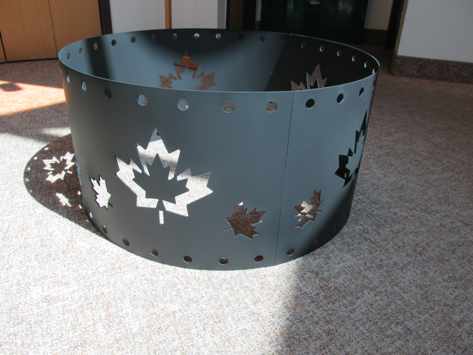 Fire Pit with Maple Leaf