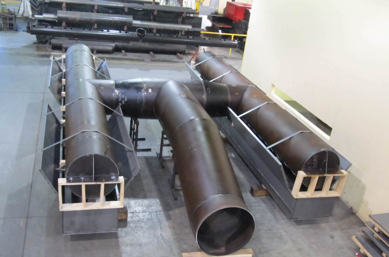 Large Pipe Assembly Front View