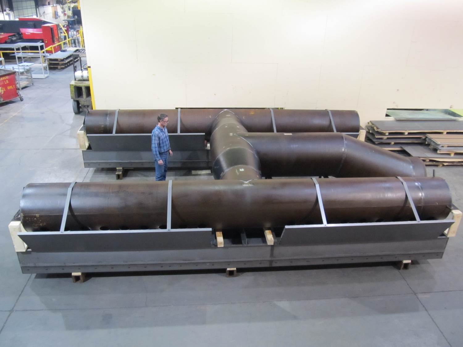 Large Pipe Assembly Side View